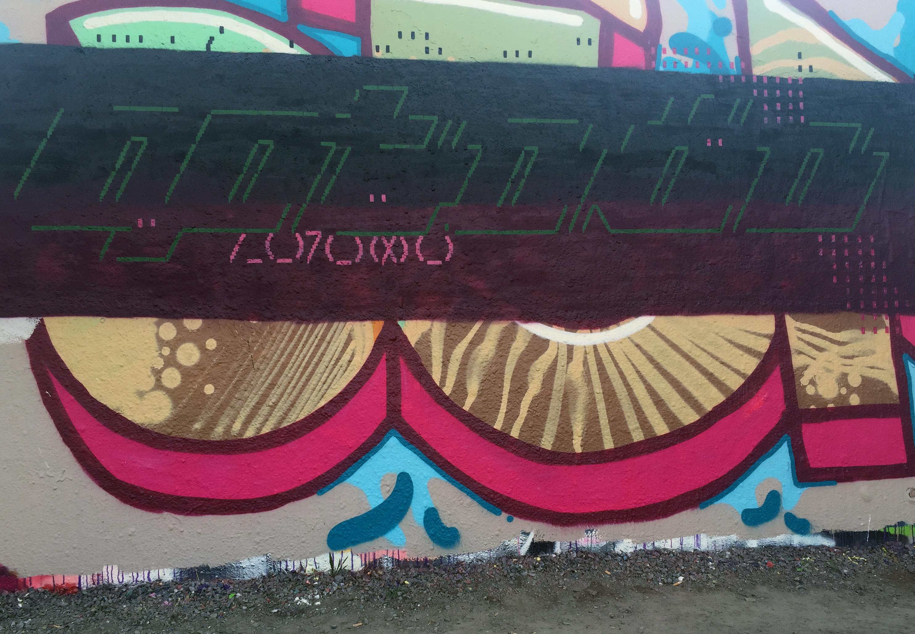 Blood & ASCII Graffiti